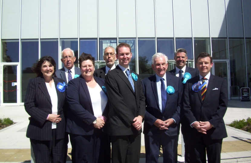 David Rocks with the North Ayrshire Conservative Councillors